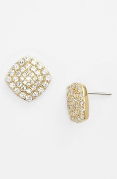 Simple, sparkly stud earrings
