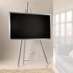 Flat-TV-Staffelei - Bietet beste Sicht auf Ihren Flachbild-Fernseher. Und lässt unschöne Kabel geschickt verschwinden.