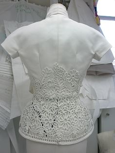 Inside the atelier for Christian Dior haute couture f/w 2008