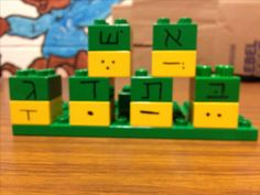 Teach Hebrew reading with DUPLO.  My students love this!