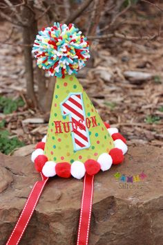 Circus Birthday Party Hat - Carnival Party Hat PERSONALIZED. $24.50, via Etsy.