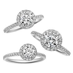 Micro-pave Halo Ring マイクロパヴェ・リング - Harry Winston(ハリー・ウィンストン)の婚約指輪(エンゲージメントリング)ハイブランドのエンゲージリング・婚約指輪まとめ一覧。