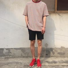 69 Ideas For Fashion Casual Summer My Style Short Outfits, Trendy Outfits, Korean Outfits, Cool Outfits, Fashion Outfits, Korean Fashion Men, Mens Fashion, Style Fashion, Moda Vintage
