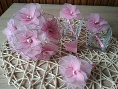 Beautiful bridesmaid bouquet and bridegroom badges from pink nylon stockings. Bridesmaid Bouquet, Wedding Bouquets, Nylon Stockings, Badges, Bride Groom, Gift Wrapping, Pink, Gifts, Beautiful