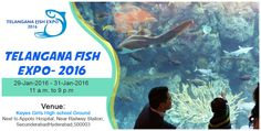 Welcome to the #Underwater world... Telangana #FishExpo - 2016 to be held on 29th , 30th & 31st January 2016, - #Hyderabad