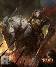 Red Pencil Art - Black Sorceress/ Knight-of-RiverRun/ Soul Eater/ VoidWizard