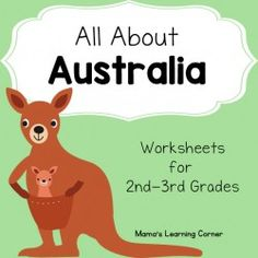 Australia Worksheets - perfect for your unit study! Reading comprehension, Australian animals, map work, and more! For 2nd-3rd graders.