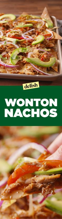 You won't find these Wonton Nachos on a takeout menu. Get the recipe on Delish.com.