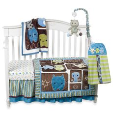 CoCaLo™ Peek-A-Boo Monsters 8-Piece Crib Bedding Set and Accessories