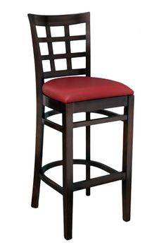 The Eco Lattice Barstool by SeatingExpert is made out of solid European beech wood, it is assembled with mortise and tenon construction and metal reinforcements for added durability. A sturdy barstool, economically priced - it is designed especially for commercial use. Available with wood or upholstered seat of your choice.