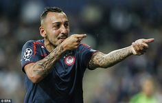 Oct. 2nd 2013: Kostas Mitroglou scored a hat-trick for Olympiacos in their win at Anderlecht.