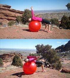 Ćwiczenie na piłce stabilizującej III