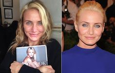 Cameron Diaz: with and without make-up