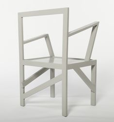 Mondrian Chair (Gray) by Robert Wilson