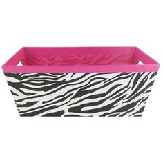 Bag-of-Chips Hot Pink, Black & White Zebra Print Box with Cut Out Handles | Shop Hobby Lobby