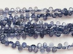 Iolite Plain Pear Briolettes Natural Iolite Beads by gemsforjewels