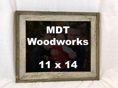 Barnwood Picture Frame Made With Reclaimed Wood by MDTWoodwork