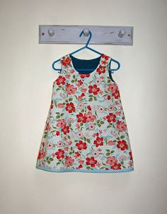 Sewing pattern for girls dress Petal Reversible Dress Pattern pdf sewing pattern sizes 6 - 9 months to 8 years by Felicity Sewing Patterns