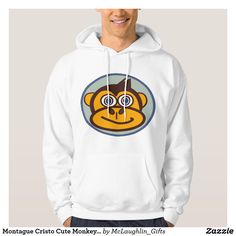 Shop Montague Cristo Cute Monkey Hoodie created by McLaughlin_Gifts. Stylish Hoodies, Cute Monkey, Graphic Sweatshirt, Sweatshirts, How To Make, Stuff To Buy, Shopping, Collection, Fashion