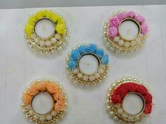 Diya Decoration Ideas, Diy Diwali Decorations, Flower Decorations, Diwali Craft, Diwali Rangoli, Cd Crafts, Candle Holder Decor, Flower Girl Basket, Craft Shop