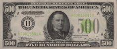 William McKinley is on the $500 bill