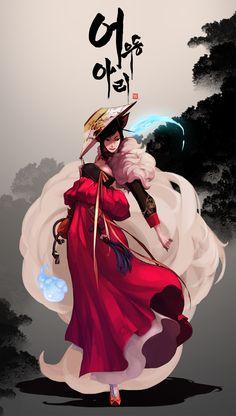 The Joseon Dynasty 'Gisaeng' Ahri by dutomaster.deviantart.com on @deviantART