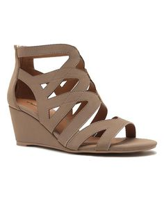 2badf7a44353 Look at this Qupid Taupe Joey Wedge Roman Sandal on  zulily today! Roman  Sandals