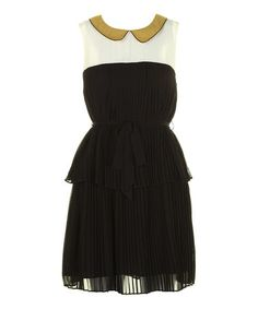 Take a look at this Black & Mustard Philippa Dress by Darling on #zulily today!40