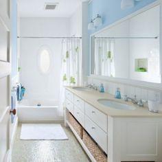 double sink vanity for a children's bathroom