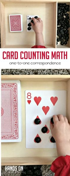Grab a deck of cards and some gems or counters for this easy no-prep math activity. Practicing math skills will be super fun and simple! A deck of cards and some gems or counters are all you need for this super simple and fun card counting activity. Math Activities For Kids, Math For Kids, Counting Activities Eyfs, Numicon Activities, Kindergarten Math Activities, Nutrition Activities, Preschool Education, 19 Kids, Numbers Preschool
