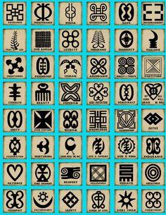 Gli Adinkra sono simboli visivi creati dagli Ashanti del Ghana e dagli Gyaman della Costa d'Avorio. Rappresentano concetti o aforismi. Gli Adinkra sono ampiamente utilizzati in tessuti, ceramiche, loghi e pubblicità. Sono spesso incorporati nei muri e altri elementi architettonici.