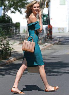karlie kloss vestido flats street style