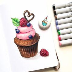 #sketch #sketching #sketchbook #leuchtturm1917 #sketchdaily #скетч #скетчбук #artdaily #art #arts_help #instaart #topcreator #copic #copicmarkers #kalachevaschool #cupcake #cupcakes #process_of_creativity #worldofartists #v0lha_sketch