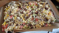 Heute habe ich mal etwas rumexperimentiert. Das hier ist wirklich die Pizza für die Faulen unter den Köchen. Eine Pizza ohne Boden! :) Aber sie schmeckt - und zwar richtig richtig gut! Eine sogenan...