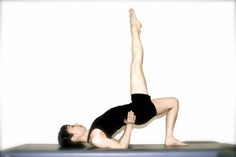 The Pilates Shoulder Bridge will Give you a Strong Back and Tight Buns.: The Pilates Shoulder Bridge Step 2