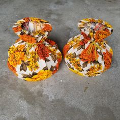 Pair of vintage fabric covered lamp shades / orange fabric retro lamp shades Lamp Shades, Light Shades, Copper Planters, Retro Lamp, Sewing Baskets, Orange Fabric, Copper And Brass, Vintage Lamps, Fabric Covered