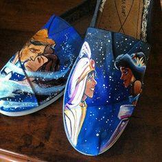 Custom Shoes. Disney by kfeiling on Etsy