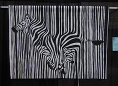 Lisa Goreski zebra quilt.  How cool is this?  Would put in just a dash of bright color somewhere for contrast.