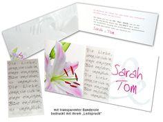 Hochzeitseinladungen - Wunderschöne Lilie...