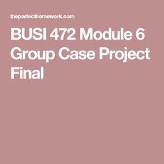 BUSI 472 Module 6 Group Case Project Final
