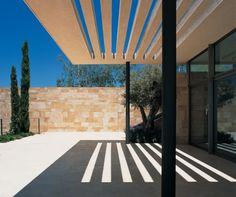 Sculptural shade, Nabil Gholam Architecture & Planning - F House