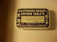 Cloverine Aspirin Tin, 1950's