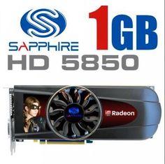 Genuine Sapphire Radeon HD 5850  PCI-E Graphics Card ATI 1GB HDMI / DUAL DVI