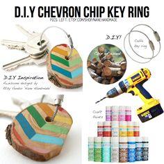 Chevron key ring