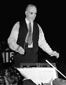 Sir Thomas Beecham, Bt, CH (29 April 1879 – 8 March 1961) was an English conductor and impresario best known for his association with the London Philharmonic and the Royal Philharmonic orchestras. He was also closely associated with the Liverpool Philharmonic and Hallé orchestras. From the early 20th century until his death, Beecham was a major influence on the musical life of Britain and, according to the BBC, was Britain's first international conductor.