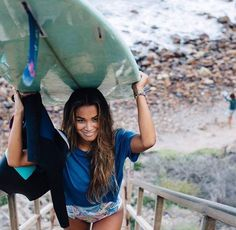 #Surf chick and board