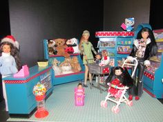 Custom Barbie Toy Store - One of a kind Commissioned Diorama created by BargainFancy