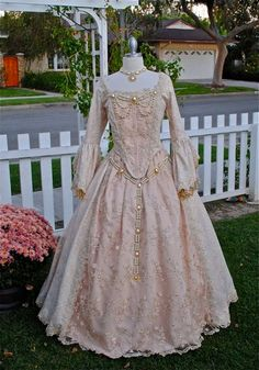 I like the idea of the lace overlay for the bodice and skirt details.