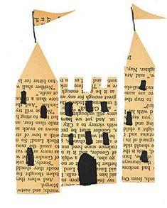 castle architecture art collage piece pastesf
