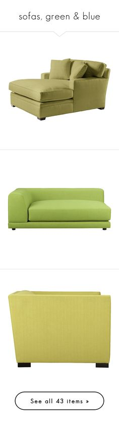 """""""sofas, green & blue"""" by confusgrk ❤ liked on Polyvore featuring home, furniture, sofas, couch, interior, low sofa, cb2, eco friendly furniture, low couch and eco friendly sofa"""
